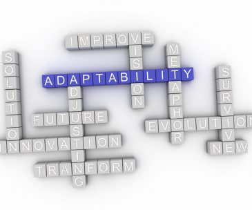 3d image Adaptability word cloud concept